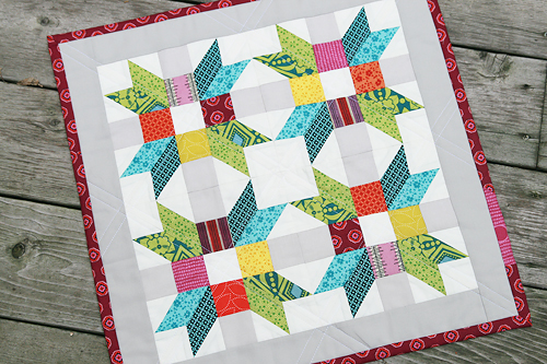 Poinsettia Pillow ~ Project for Quilt Camp