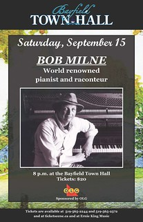 Bayfield Townhall Music - Bob Milne Poster 2012