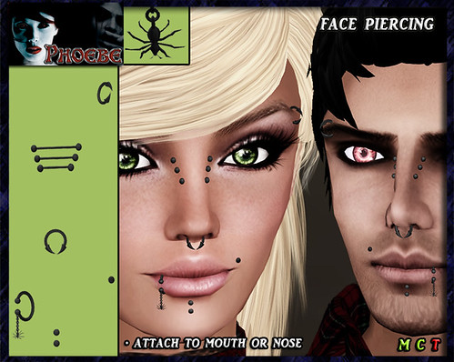 *P* Spider Face Piercing ~Man & Woman~