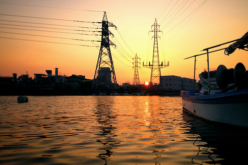 sunset sea port landscape 海 風景 iphone 夕焼け 港 iphoneography
