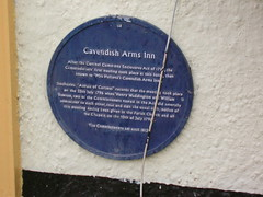 Photo of William Dawson, Henry Waddington, and Cavendish Arms Inn, Cartmel blue plaque