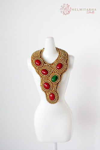Lakshmi doll necklace
