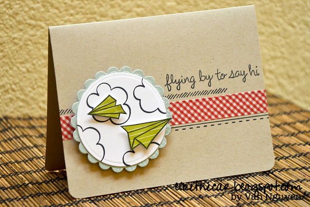 Spellbinders - Lawnscaping - Paper Airplane Card WM