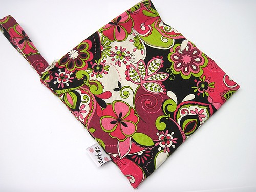 Pink and Black Floral Wet/Dry Bag