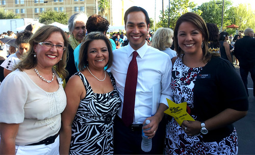 UT Outreach Staff with Julian Castro