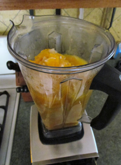 Squash in Vitamix