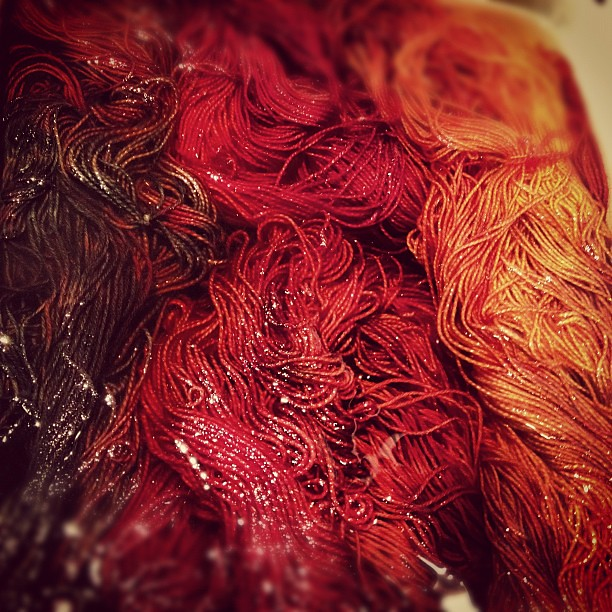 It's fall on my dye pots!  #fall #autumn #handdyed #yarn #knit #knitting