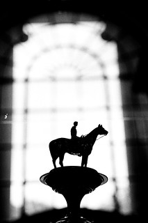 Man on Horse on Pedestal
