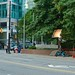 Movie set in Burrard St