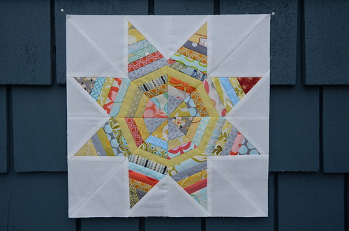 String Star block by Poppyprint