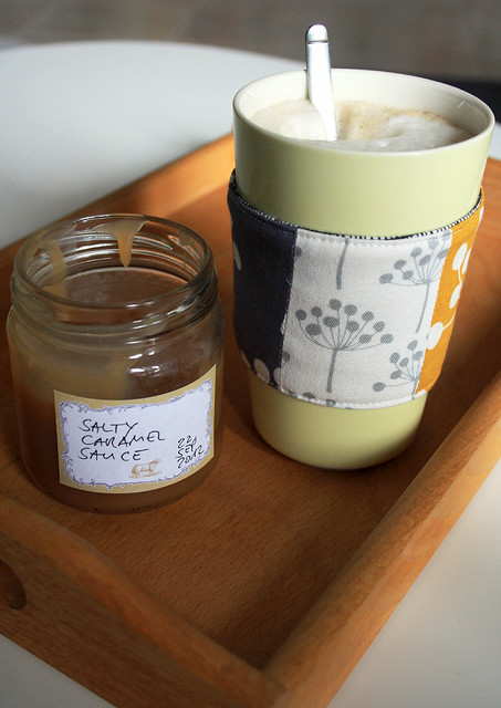 coffee cozy & salted caramel sauce