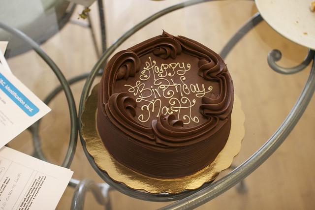 Happy Birthday Matt Cake Fire