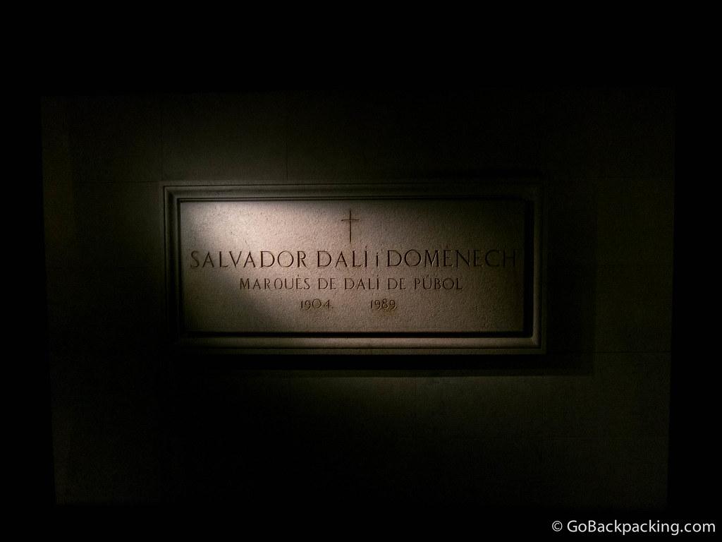 Salvador Dalí's tomb