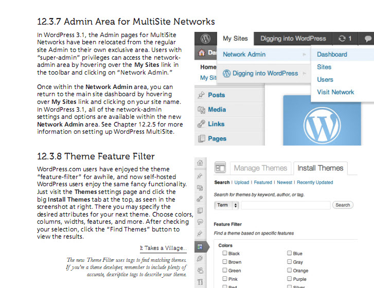 Miễn phí ebook học WordPress Digging to WordPress 208