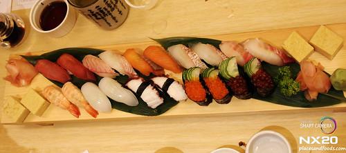 miraku sushi platter