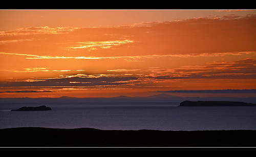Loch Bay sunset 2 by marlesghillie