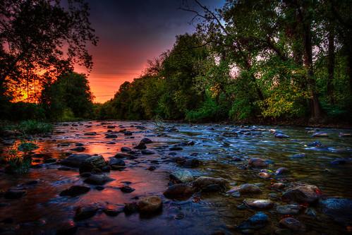 sunset sky color river nathan hdr firebaugh