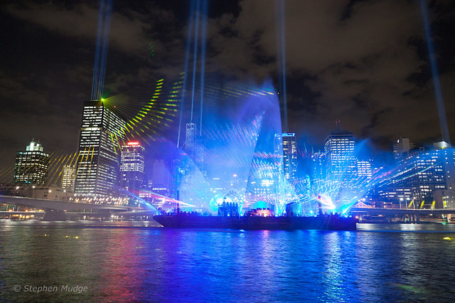 Brisbane Festival laser light show-6 small