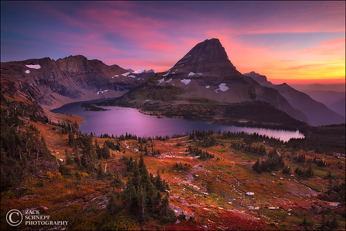 Autumn Sunset, Glacier NP