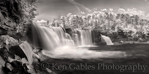 waterfall littlerivercanyon digitalinfrared littlerivercanyonnationalpreserve dekalbcountyalabama