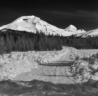 Next time here, I'll check the road conditions.  Cascade Lakes Scenic Byway, near Bend, OR.