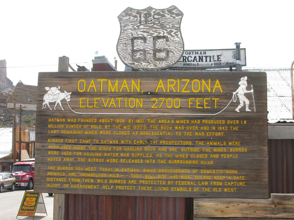 USA Road Trip Point of Interest - Oatman, Arizona