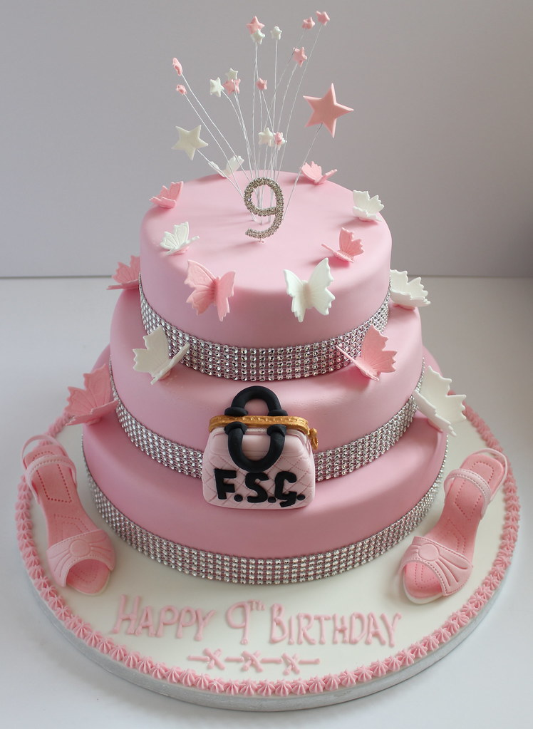 By Pauls Creative Cakes A Birthday Cake For Three Nine Year Old Girls