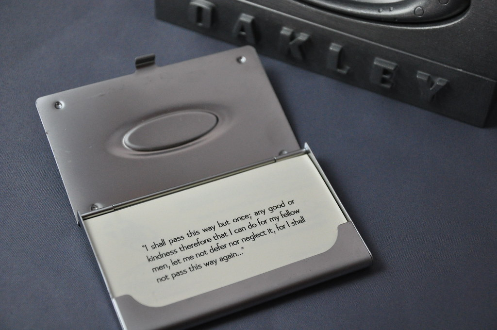 Perfect Oakley Business Card Holder Motif - Business Card Ideas ...