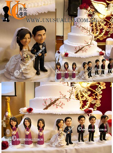 Personalized Wedding Cake Topper Figurines  - © www.unusually.com.sg