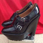 Burberry Prorsum platform buckle wedges from Nordstrom Rack in Old Westbury