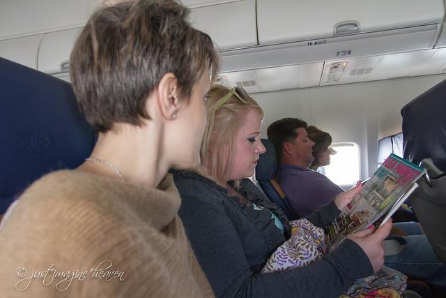 On a jet plane