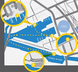 Proposed Melbourne ferry map