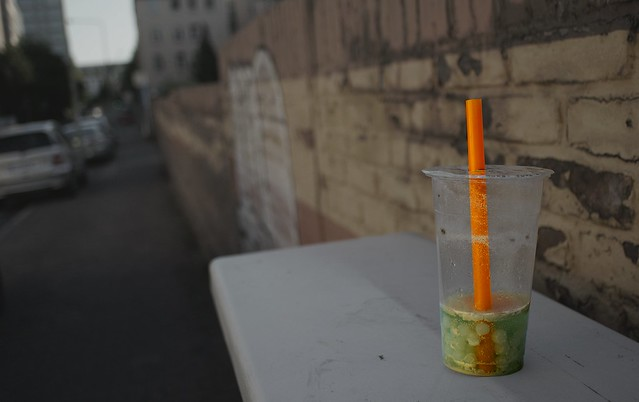 Abandoned bubble tea
