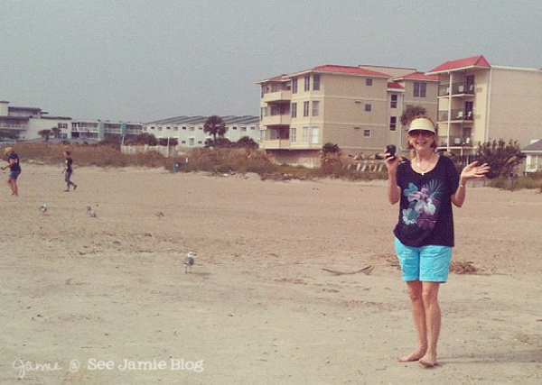 Vacation: Mom on the beach