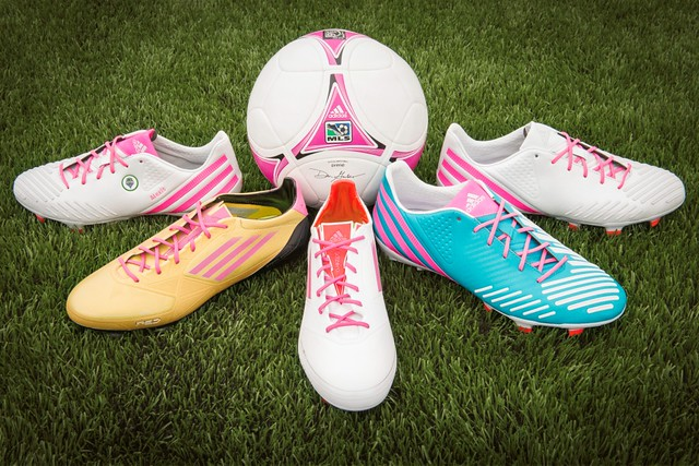 mi adidas MLS Breast Cancer Awareness Cleats