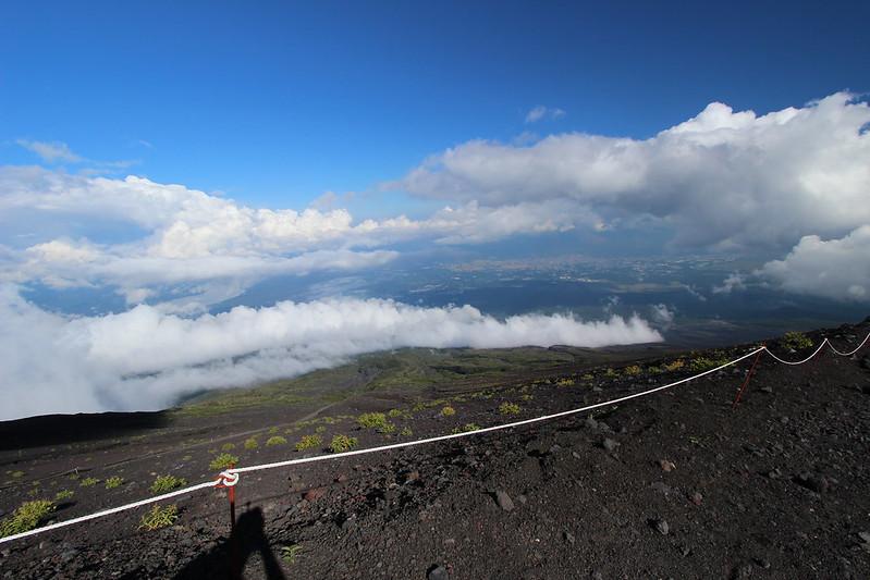 富士登山 下山 雲海