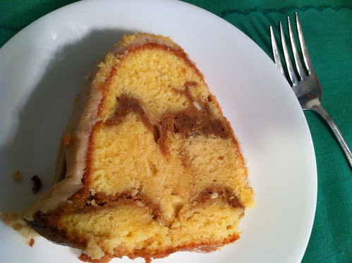 pumpkin streusel swirled cream cheese poundcake