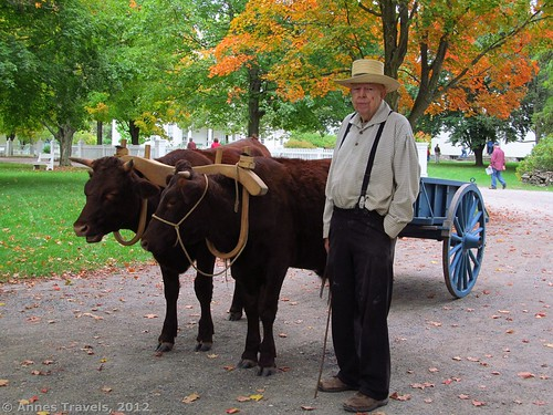 Oxcart Man at Genesee Country Village & Museum, Mumford, New York