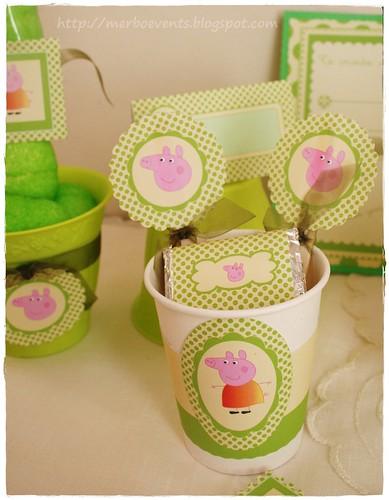 kit imprimbible Peppa Pig verde Merbo Events2