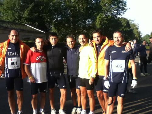 Alla partenza della mezza maratona di Londra