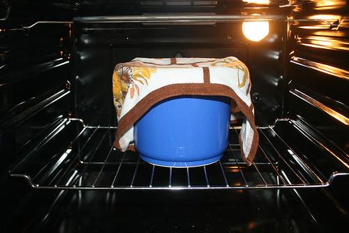21 - Abgedeckt gehen lassen / Prove dough covered