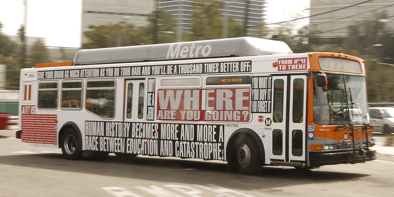Barbara Kruger-designed bus