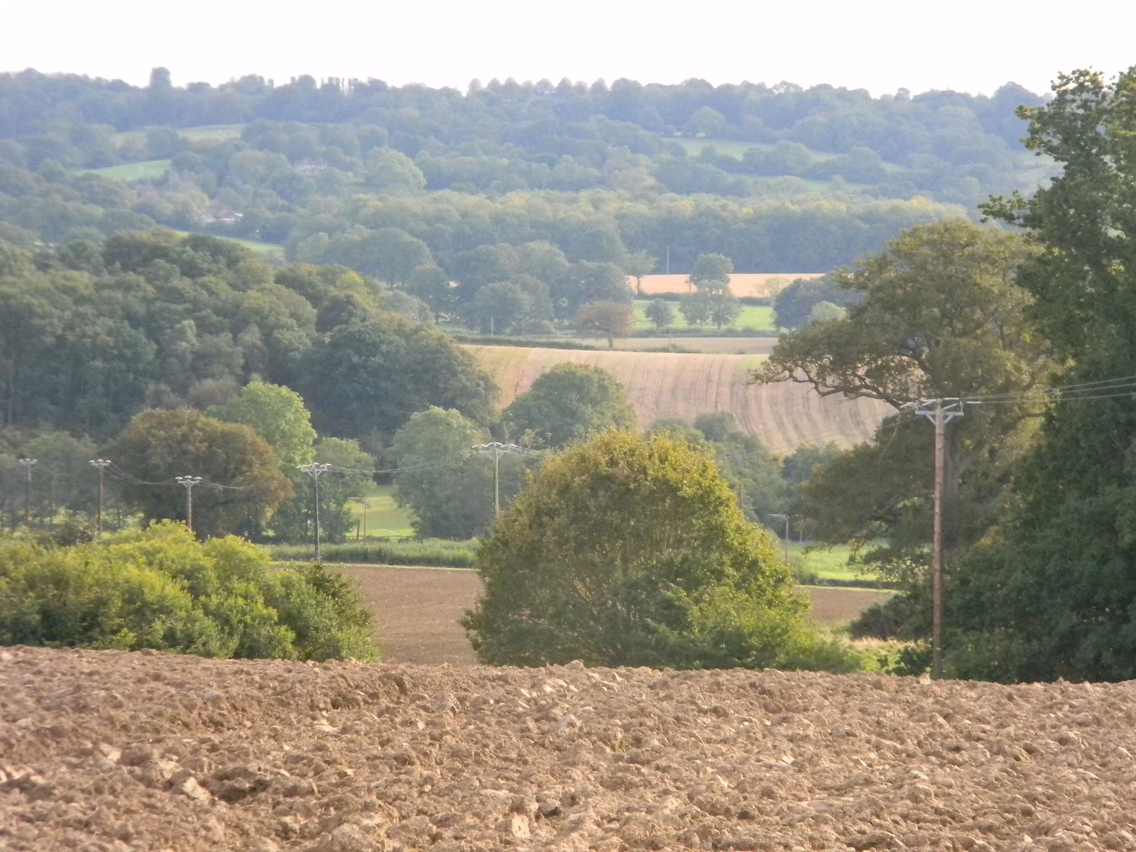View back, afternoons climb Balcombe Circular