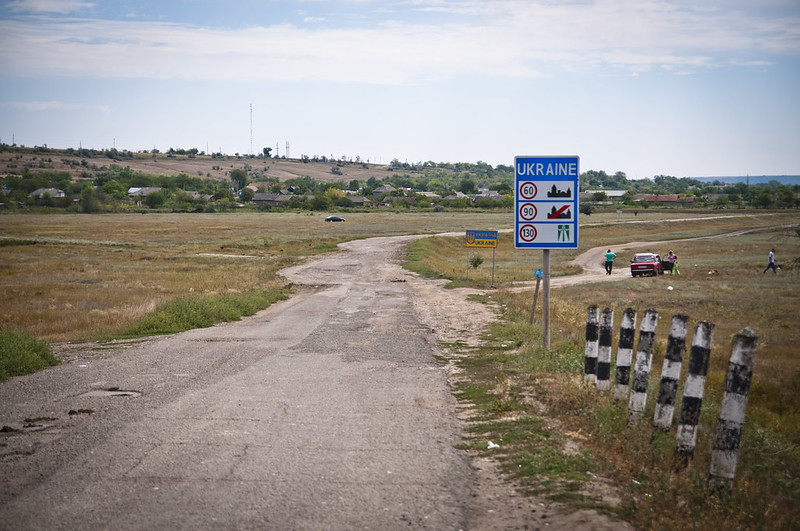 Moldovian-Ukrainian Border near Basarabeasca