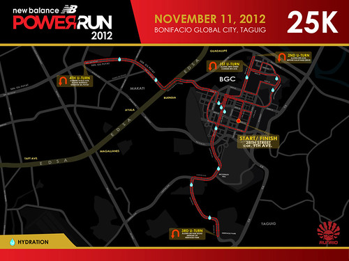 LowNB Power Run 2012 25K Race route
