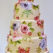 Rose and hydrangea cake by neviepiecakes