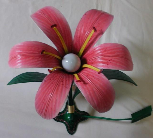 가죽공예-백합 등(Leather craft-Lily lamp)