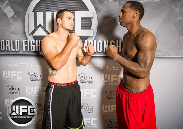 WFC 59 Weigh-Ins Sep 15th, 2016 at the Belle of Baton Rouge