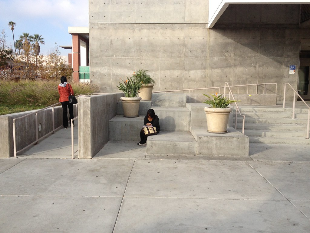 Ada Ramp And Concrete Steps ...