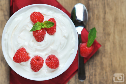 Raspberry Greek Yogurt
